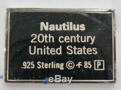 Franklin Mint 98/100 Sterling Silver Medallic Register Worlds Great Ships