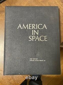 Franklin Mint America in Space 1970s 24 Coin Proof Set 925 Sterling Silver Nasa