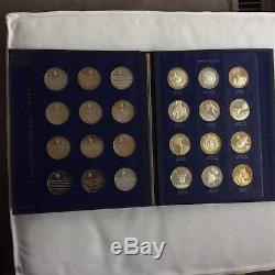 Franklin Mint America in Space 1st Edition Sterling Silver 24 Coin Proof Set
