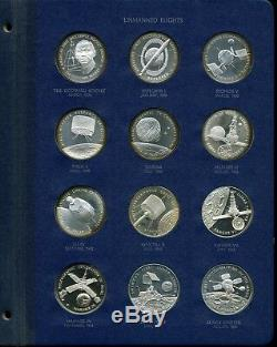 Franklin Mint America in Space 1st Edition Sterling Silver 24-Coin Proof Set (2)