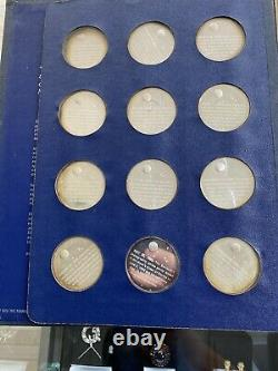 Franklin Mint America in Space 24 Sterling Silver Proof Medal Set