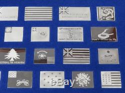 Franklin Mint American Flags of the Revolution 64 Sterling Silver Ingots Set
