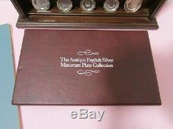 Franklin Mint Antique English Sterling Silver Miniature Plate Collection