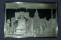 Franklin Mint Bicentennial History of United States. 100 Sterling Silver Ingots
