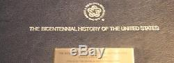 Franklin Mint Bicentennial History of the United States 100 Sterling Silver