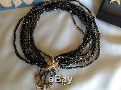 Franklin Mint Black Pearl, Onyx Sea Sculptured Necklace & Earrings Kai-Yin Lo