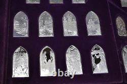 Franklin Mint Book Of Bible Hebrew version 35 Sterling Silver Bars. 925 RARE AG