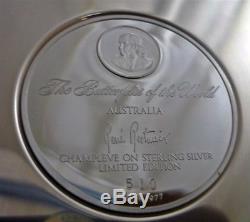Franklin Mint Butterflies of the World STERLING SILVER & Enamel Plate Australia