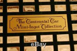 Franklin Mint CENTENNIAL CAR 112 pc Sterling Silver Mini Ingot Collection Orig
