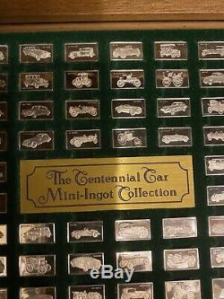 Franklin Mint CENTENNIAL CAR 96 PC. 925 Sterling Silver Mini Ingot Collection