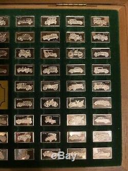 Franklin Mint CENTENNIAL CAR 96 PC. 925 Sterling Silver Mini Ingot Collection