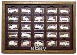 Franklin Mint Centennial Car Ingot Collection 100 pc. Sterling Silver Set 208 oz