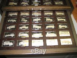 Franklin Mint Centennial Car Ingot Collection, 208 oz of Sterling Silver