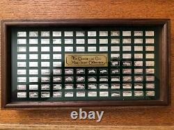 Franklin Mint Centennial Car Sterling Silver Mini Ingot Collection With Box