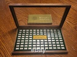Franklin Mint Centennial Car Sterling Silver Mini Ingot Collection with Book