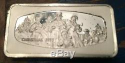Franklin Mint Christmas Ingots 9.375 oz Sterling Silver Bullion 1972 73 75 77 78