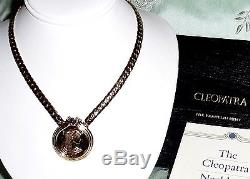 Franklin Mint Cleopatra 22kt gold plated on Sterling Silver 17 Necklace COA/BOX
