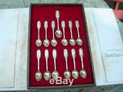 Franklin Mint Collection of 13 Apostle Spoons Sterling Silver Limited Edition