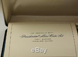 Franklin Mint Complete Mini President Medal Sterling Silver Set Including Loupe