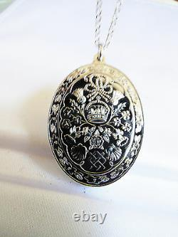 Franklin Mint Diana & Charles Royal Wedding Sterling Silver Pendant Necklace