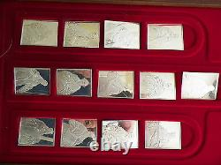Franklin Mint El Greco Apostles-13 Sterling Silver Ingots 527.2 Grams