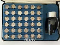 Franklin Mint First Edition Presidential Sterling Silver Mini Coin Set