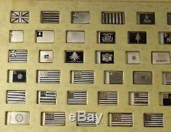 Franklin Mint Flags Of The Revolution Sterling Silver 64 Ingot Set No Toning