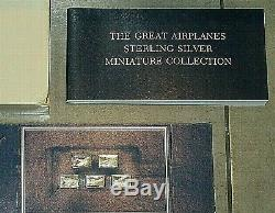 Franklin Mint Full Set of Sterling Silver Great Airplane Ingots -Box & Booklet