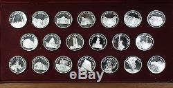 Franklin Mint Great American Landmarks Sterling Silver. 925 Proof 20 Medal Set