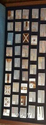 Franklin Mint Great Flags Of America Sterling Silver 42 Piece Set