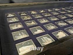Franklin Mint Greatest Fighting ships of America in Wood Case COA Silver Ingots