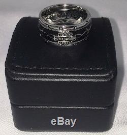 Franklin Mint Harley Davidson Rumble Roll Sterling Silver Ring Size 12 Mens 84v6