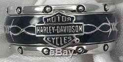 Franklin Mint Harley Davidson Rumble Roll Sterling Silver Ring Size 9 Mens 84v3