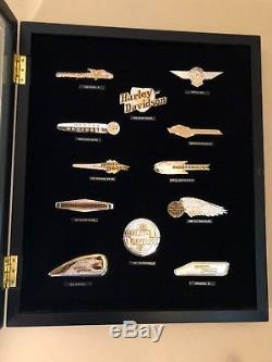 Franklin Mint Harley-davidson Sterling Silver & Gold Tank Insignias Badge Set