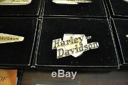 Franklin Mint Harley-davidson, Tank Badges (12), Sterling Silver And Gold