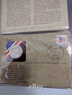 Franklin Mint History of America 32 pc. Sterling Silver Proof Medallic Cachets