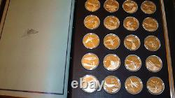 Franklin Mint- History of Flight-100 Sterling Silver Coins-Complete Proof Set