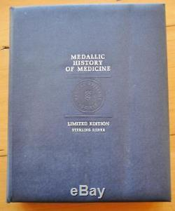 Franklin Mint History of Medicine Limited Edition 60 Sterling Silver Medal Set