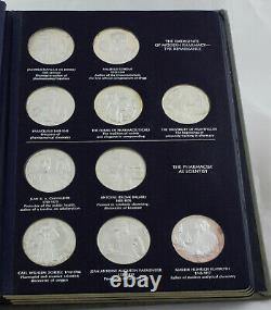 Franklin Mint History of Pharmacy Limited Edition 36 Sterling Silver Medal Set