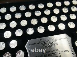 Franklin Mint History of The United States Sterling Silver 200 Mini-Coin Set BIN