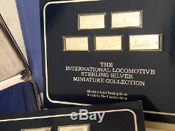 Franklin Mint INTL LOCOMOTIVE COLLECTION 50 Mini Bars. 925 STERLING SILVER