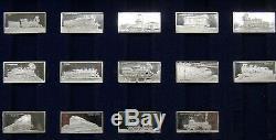 Franklin Mint International Locomotive (50) Sterling Silver Miniature Collection