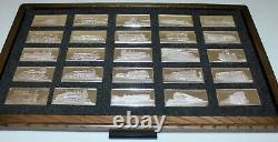 Franklin Mint International Locomotive Sterling Silver Ingot Set in Display Case