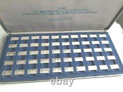 Franklin Mint International Locomotive sterling silver miniature collection