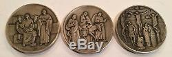 Franklin Mint Life Of Christ Vita Christi Medallion Set 50 Oz. Sterling Silver