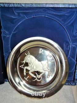 Franklin Mint Ltd Ed Taurus Zodiac Sterling Silver 8 Plate By Gilroy Roberts