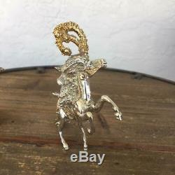 Franklin Mint Ltd Edition Sascha Brastoff 38oz Sterling Silver Circus 24kt gold