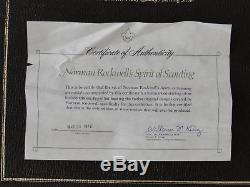 Franklin Mint Ltd Edition Sterling Silver Norman Rockwell's Spirit of Scouting