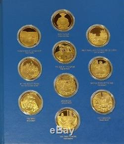 Franklin Mint Masterpieces of Impressionism 50 24K Gold on Sterling Silver Coins