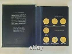 Franklin Mint Medallic History Of Pharmacy Gold On Sterling Silver Set 30 Medals